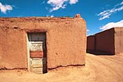 A typical southwestern pueblo-style dwelling in Taos, New Mexico.